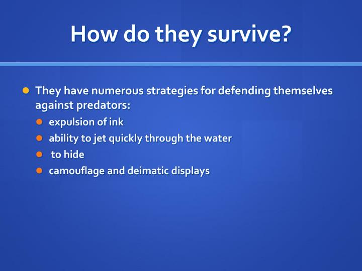 How do they survive?