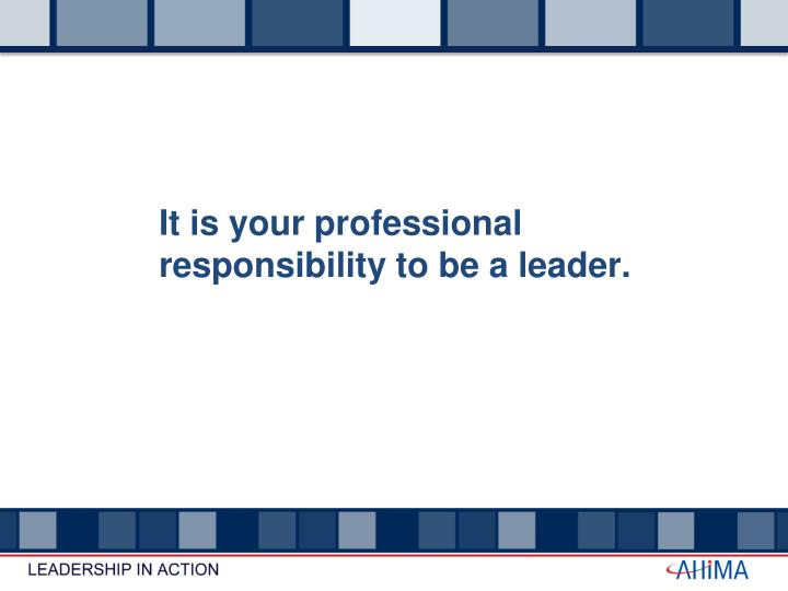 It is your professional