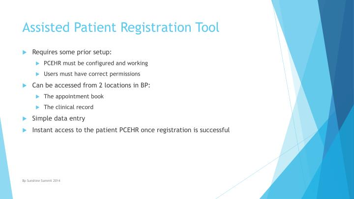 Assisted Patient Registration Tool