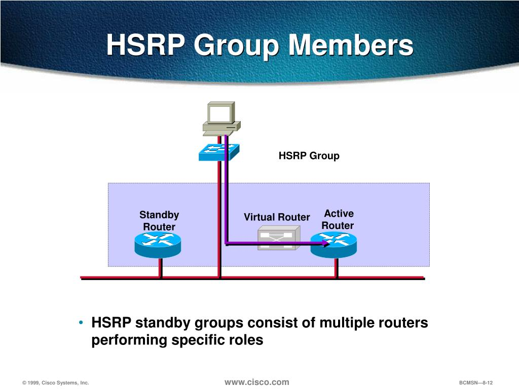 PPT - Chapter 8 Configuring HSRP for Fault Tolerant Routing