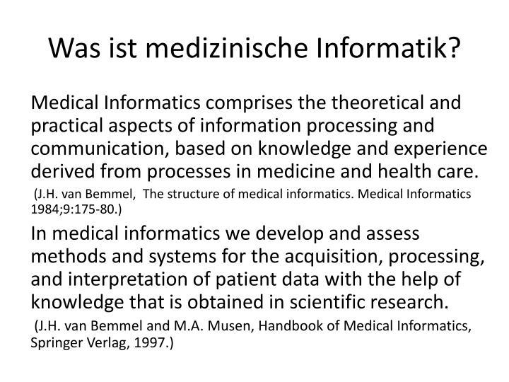 Was ist medizinische Informatik?