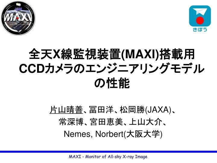 x maxi ccd n.