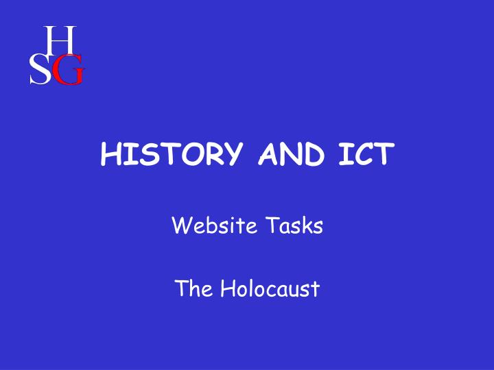 history and ict n.