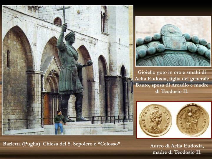Gioiello goto in oro e smalti di Aelia Eudoxia, figlia del generale Bauto, sposa di Arcadio e madre di Teodosio II.
