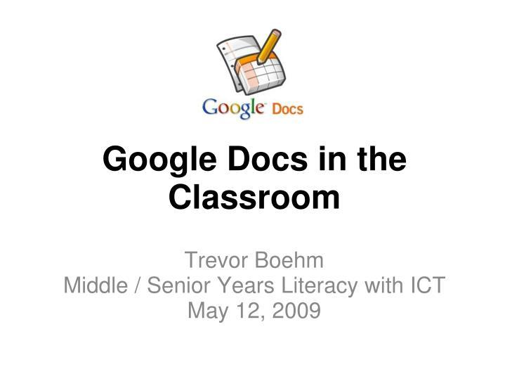 google docs in the classroom n.