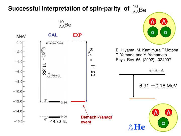 Successful interpretation of spin-parity  of