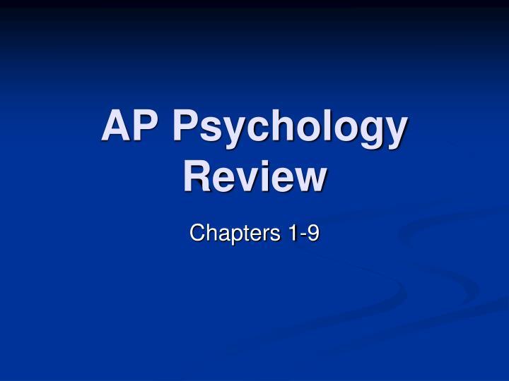 ap psychology review n.