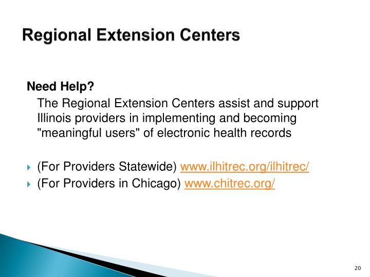 Regional Extension Centers