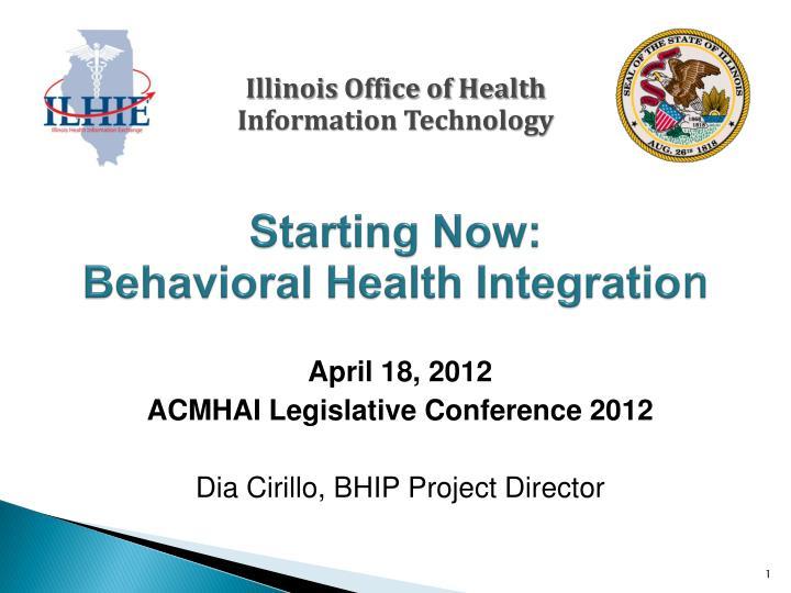 Starting now behavioral health integratio n