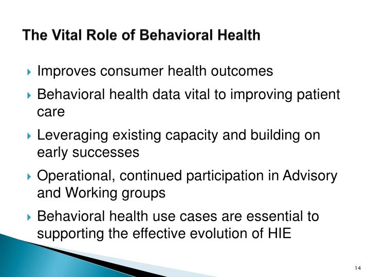 The Vital Role of Behavioral Health