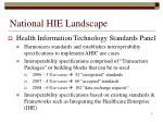 national hie landscape1
