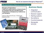 how do we transform emergency response