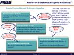 how do we transform emergency response6