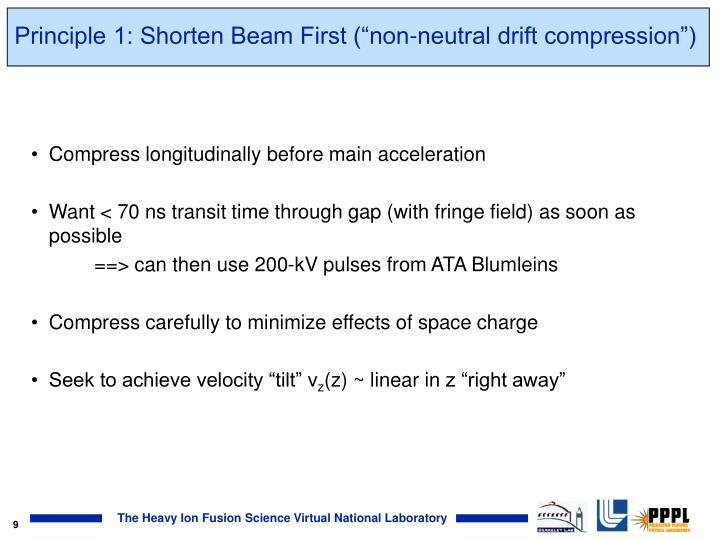 "Principle 1: Shorten Beam First (""non-neutral drift compression"")"