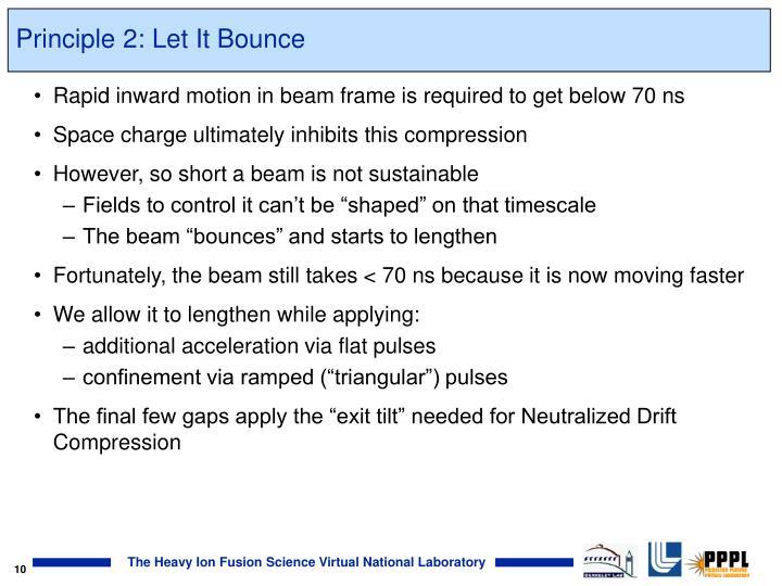 Principle 2: Let It Bounce