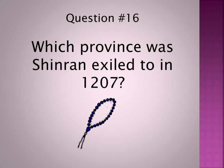 Question #16