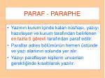 paraf paraphe