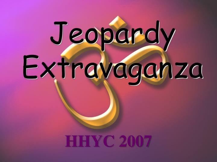 jeopardy extravaganza n.