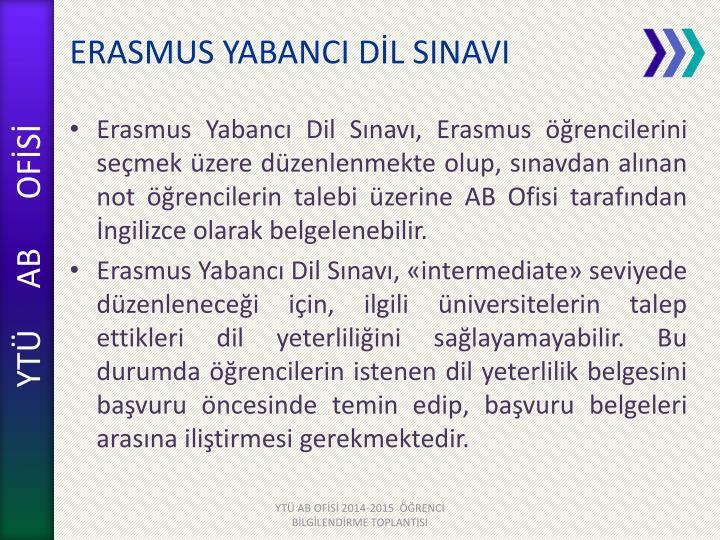ERASMUS YABANCI DİL
