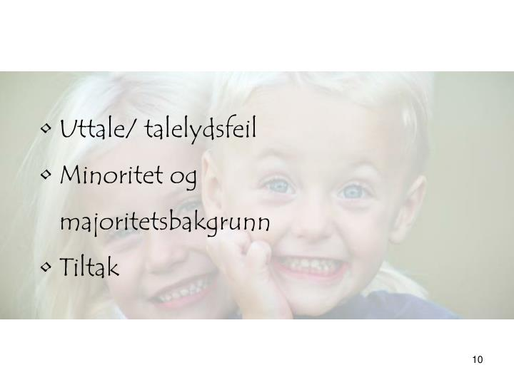 Uttale/ talelydsfeil