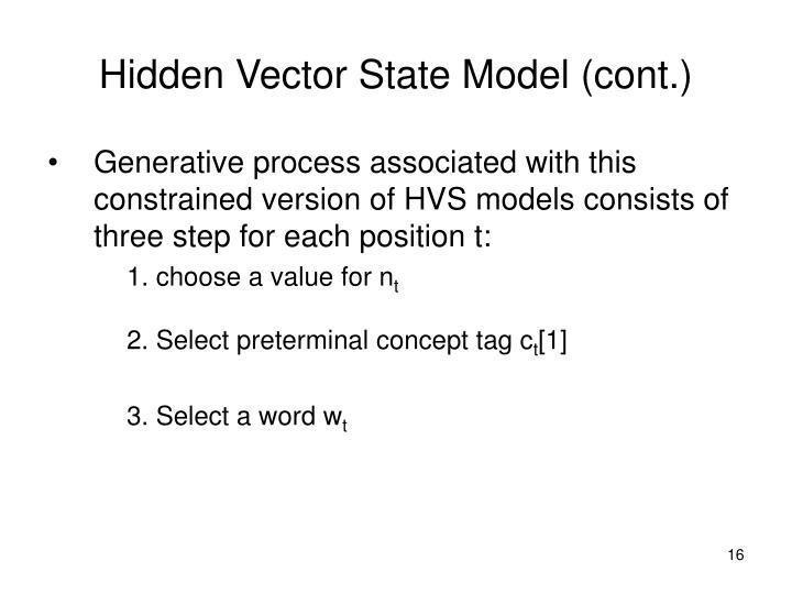 Hidden Vector State Model (cont.)