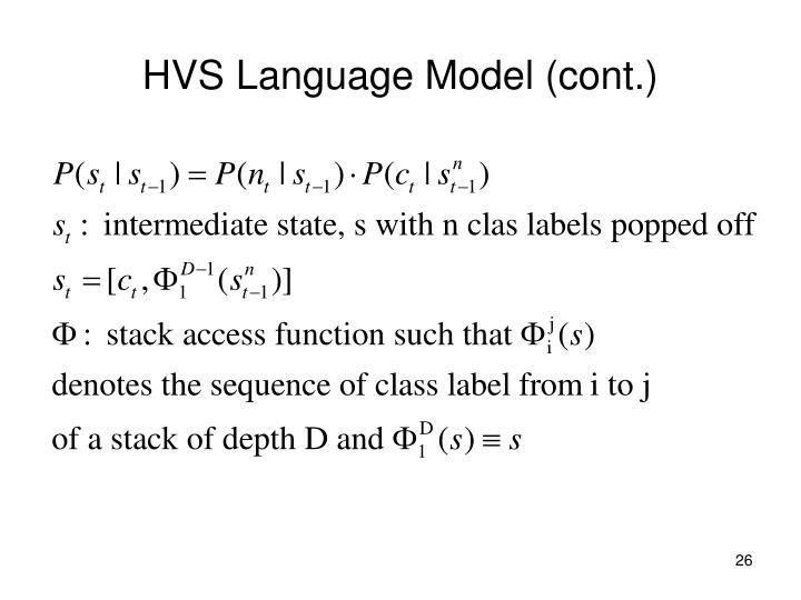 HVS Language Model (cont.)