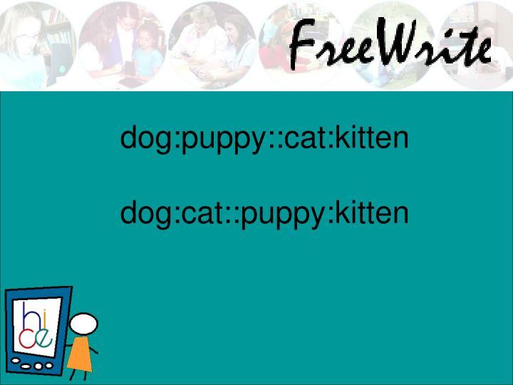 dog:puppy::cat:kitten