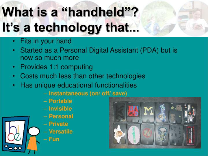 """What is a """"handheld""""?"""