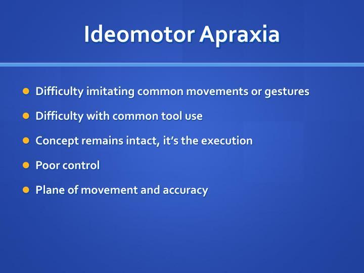 Ideomotor Apraxia
