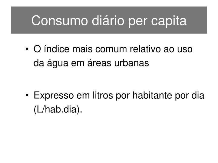 Consumo diário per capita
