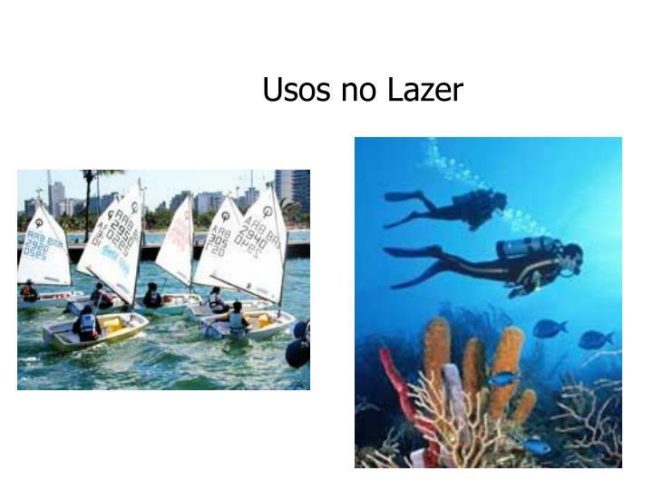 Usos no Lazer