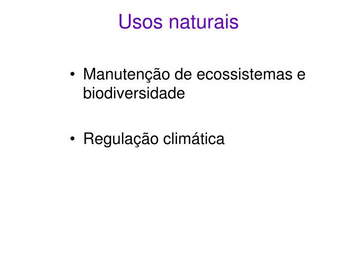 Usos naturais