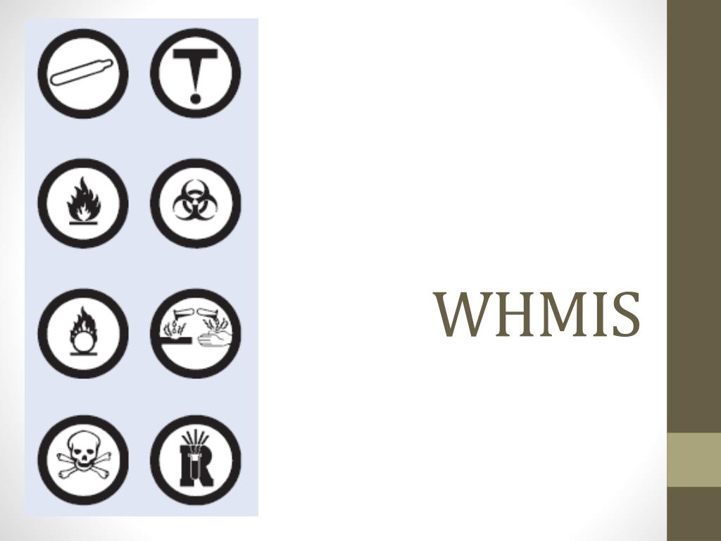 Three parts of whmis: labels worker education material safety.