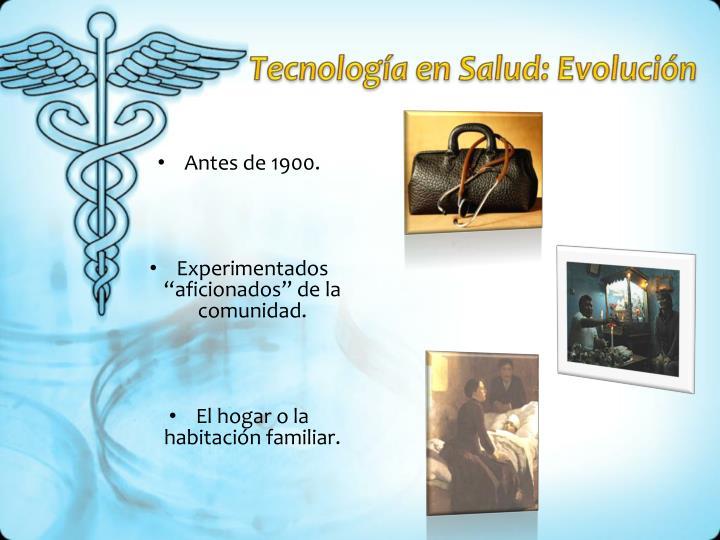 Tecnología en Salud: Evolución