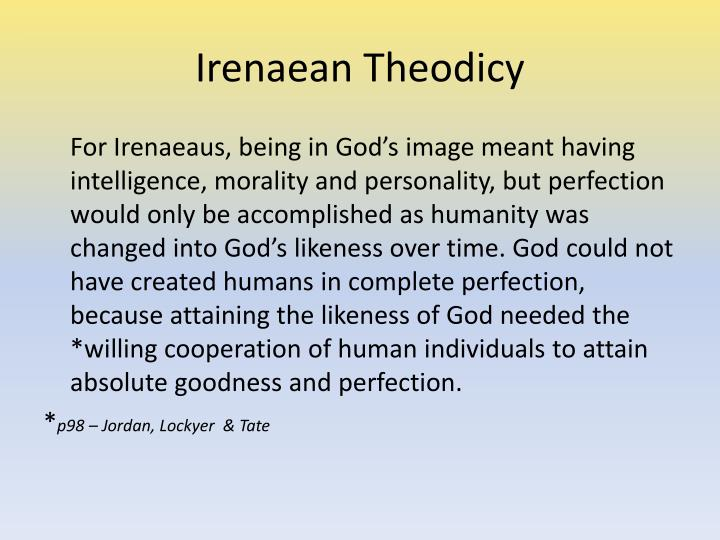 irenaean theodicy vs augustinian theodicy