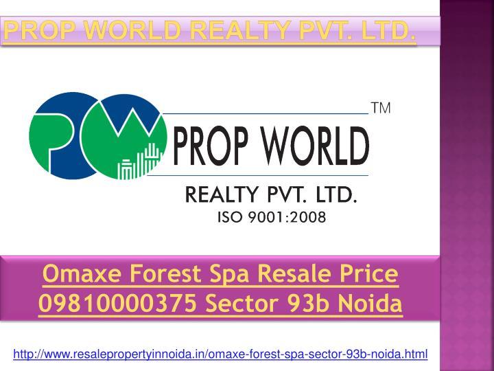 prop world realty pvt ltd n.