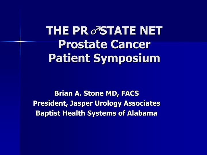 the pr state net prostate cancer patient symposium n.