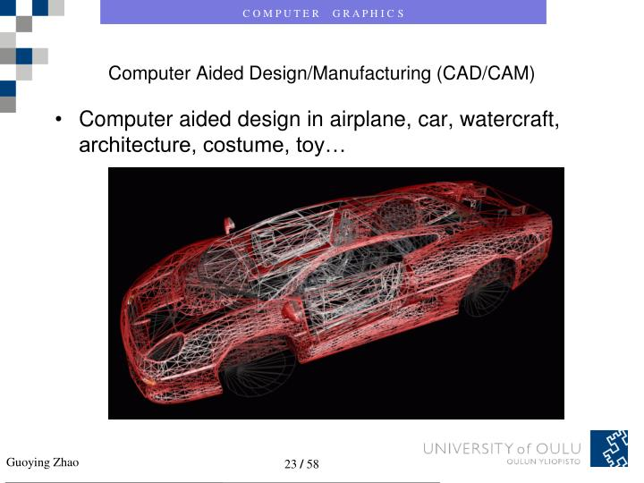 Computer Aided Design/Manufacturing (CAD/CAM)