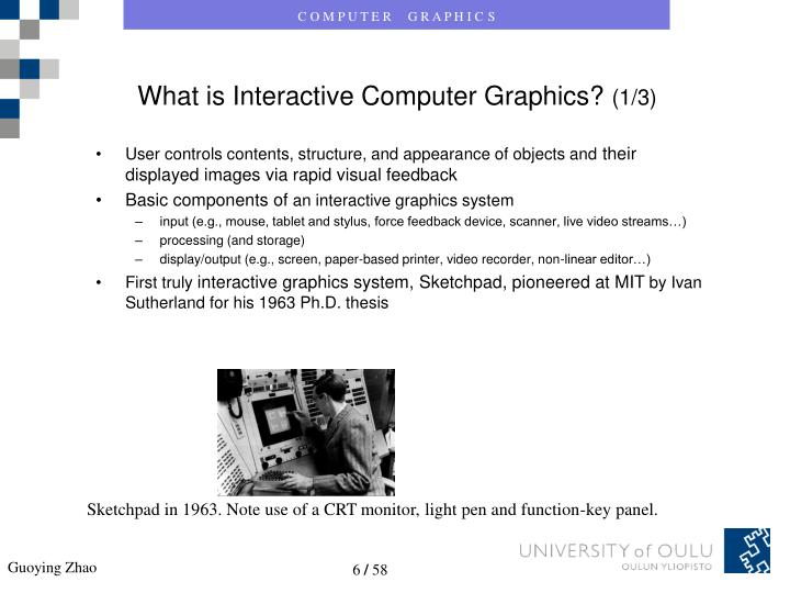 What is Interactive Computer Graphics?