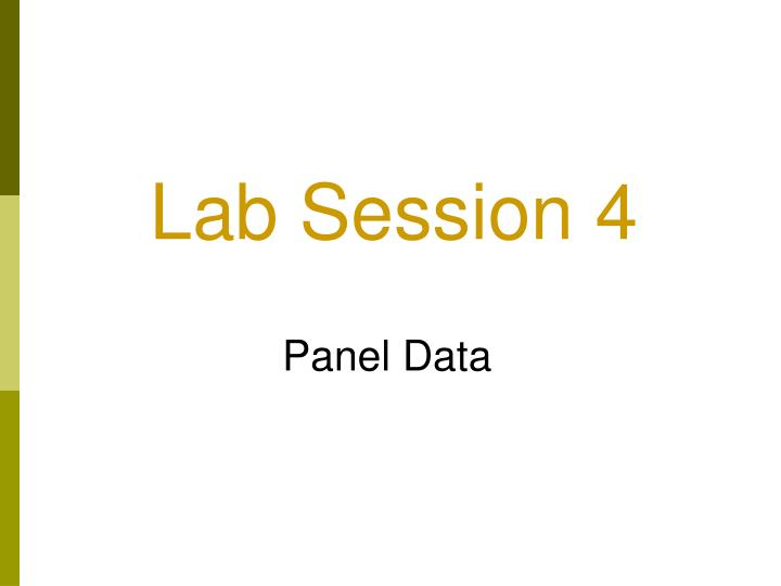 Lab session 4