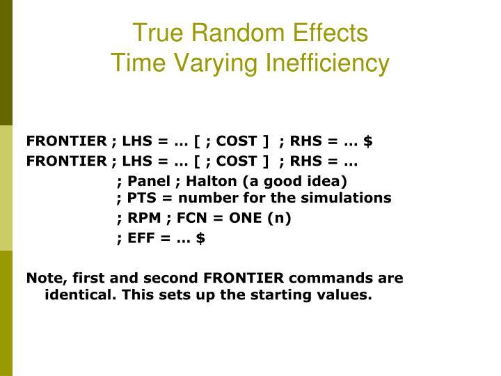 True Random Effects