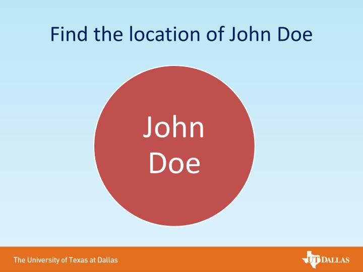 Find the location of John Doe