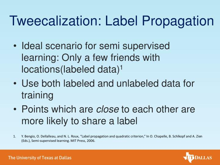 Tweecalization: Label Propagation