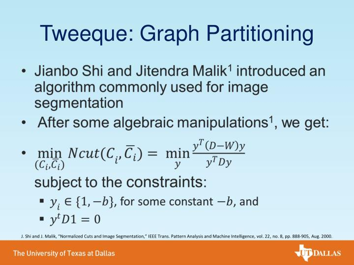 Tweeque: Graph Partitioning