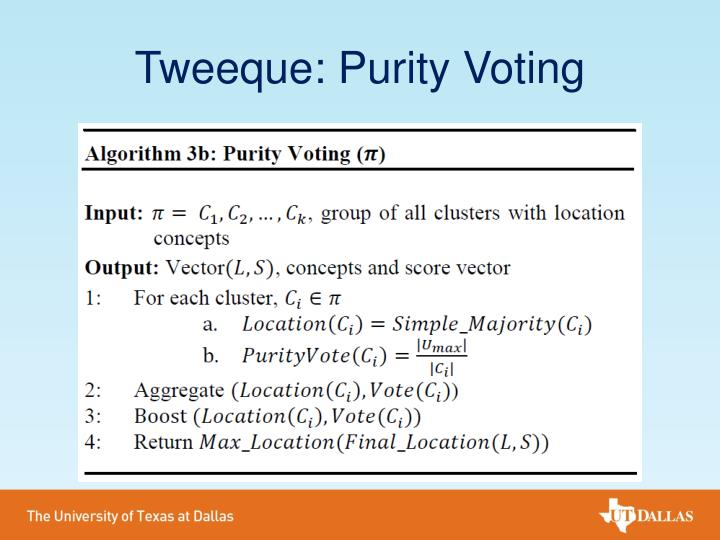 Tweeque: Purity Voting