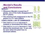 mendel s results and conclusions