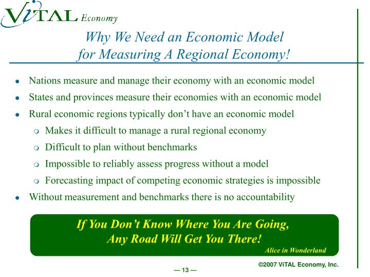 Why We Need an Economic Model