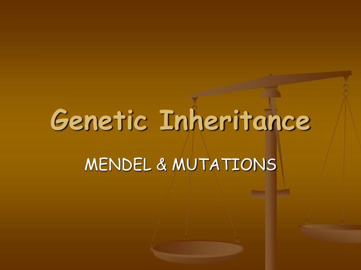 genetic inheritance n.