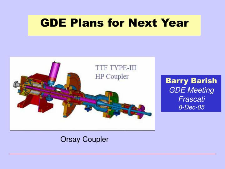 gde plans for next year n.