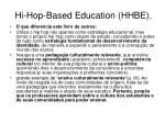hi hop based education hhbe